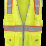 1241-LZ-RD-CID Lime Mesh Class 2 Premium featuring NiteGlo